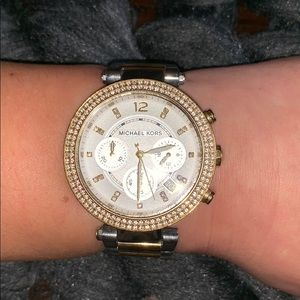 Ritz Pavé Two-Tone Watch Micheal Kors